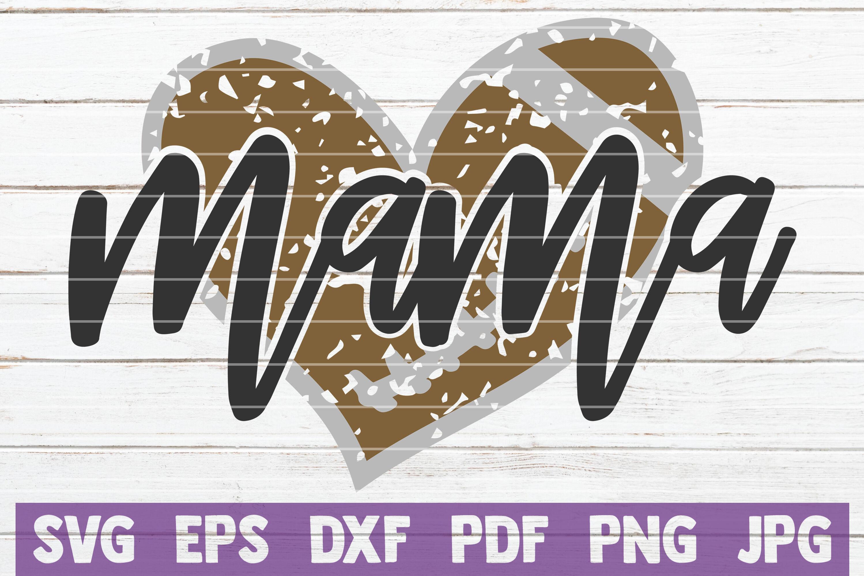 Football Mama Heart Svg Cut File By Mintymarshmallows Thehungryjpeg Com