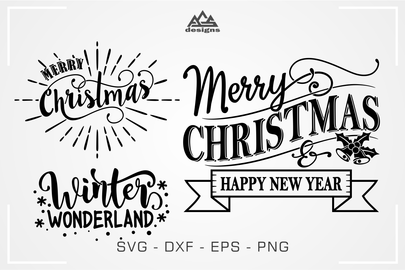 Christmas Quote Packs Svg Design By Agsdesign Thehungryjpeg Com