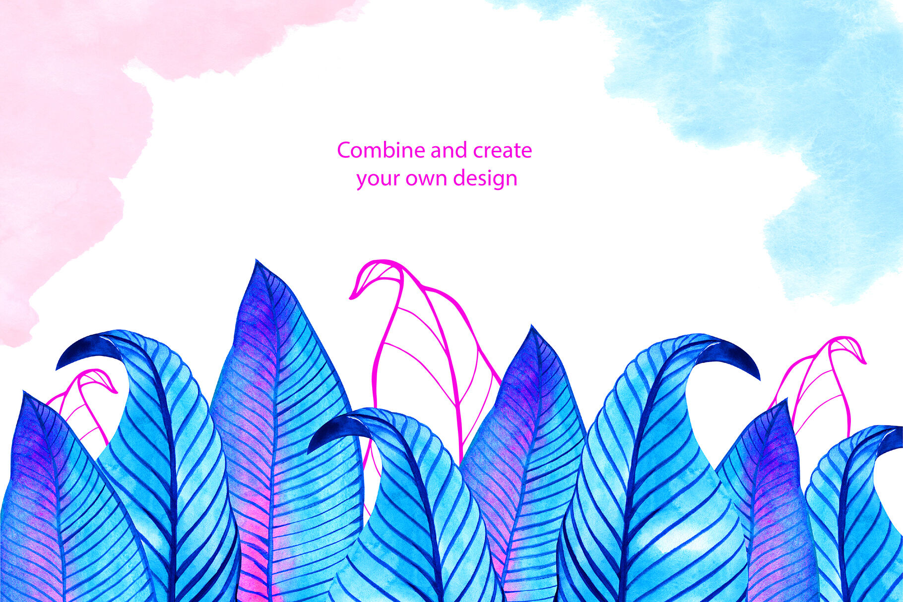 Watercolor Neon Tropical Leaves By Aquarelloaquarelle Thehungryjpeg Com Explore the new release of cogul planet. watercolor neon tropical leaves by