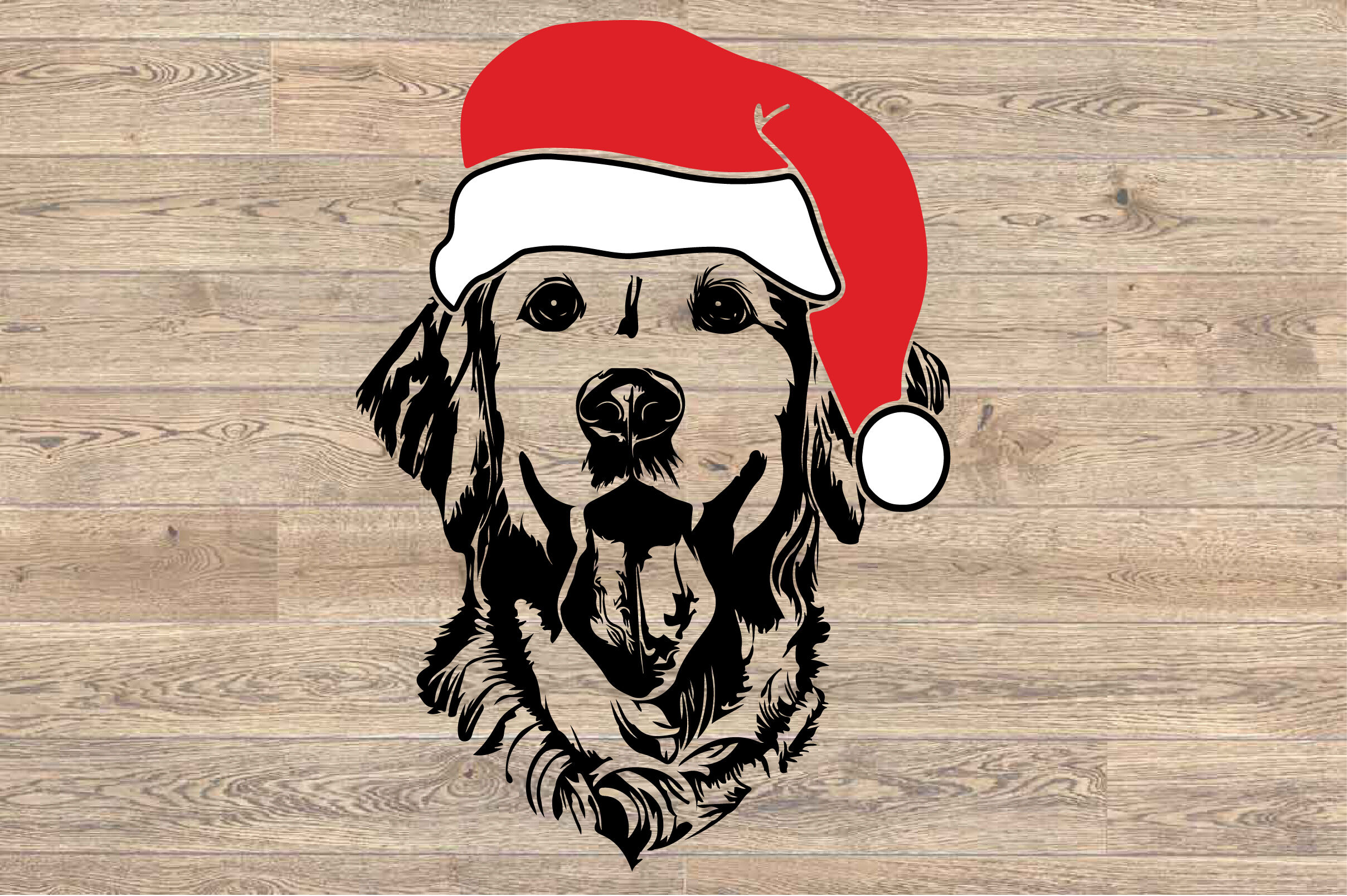 Lab Svg Labrador Whit Christmas Hat Santa S Elf Santa Squad 1578s