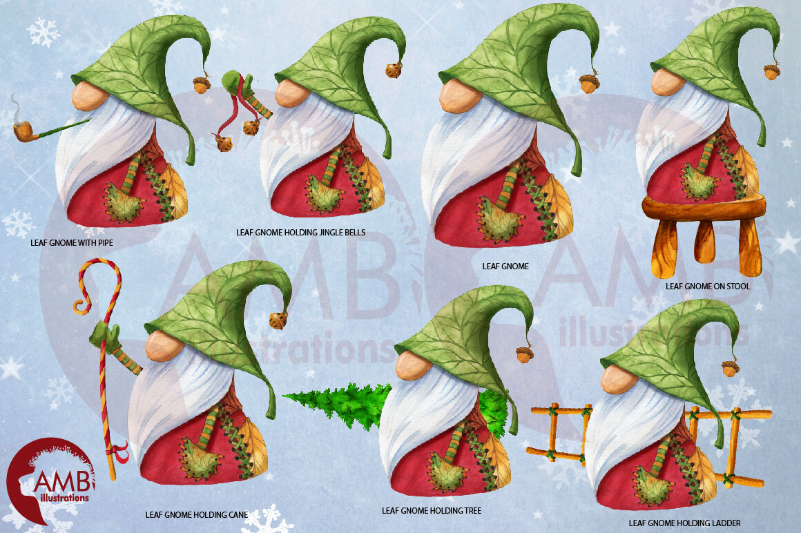 Christmas Gnomes Clipart Nordic Scandinavian Gnome Amb 2675 By