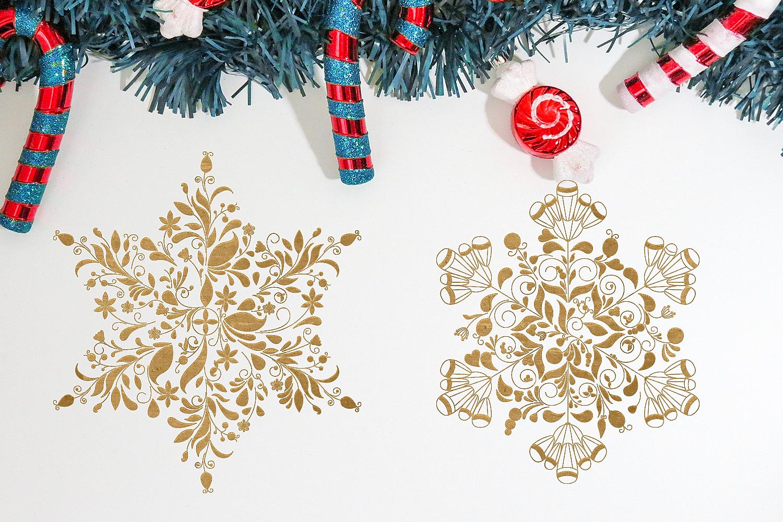 Christmas Mandala Snowflakes Svg Set By Craft N Cuts