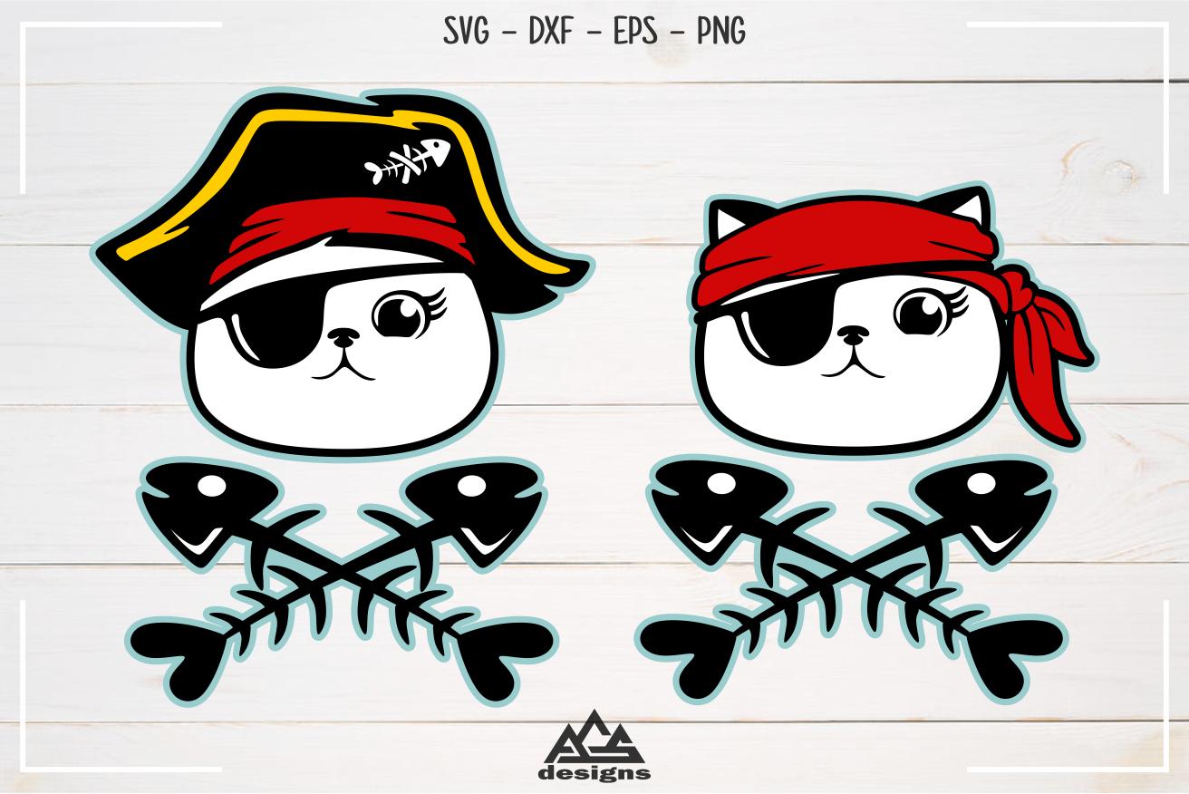 Download Cute Pirate Cat Kitten Svg Design By AgsDesign ...