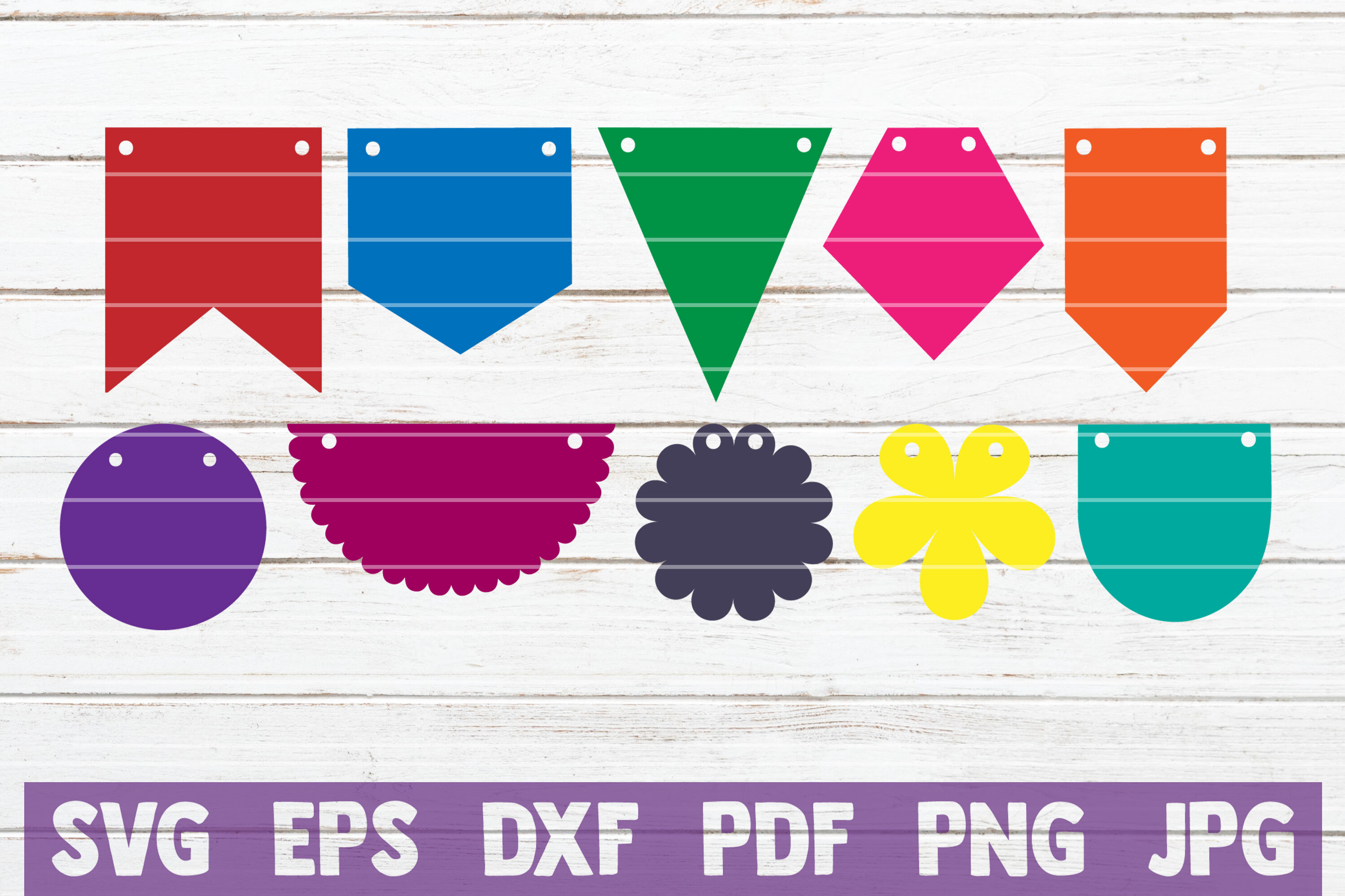 Bunting Banner Svg Bundle Svg Cut Files By Mintymarshmallows