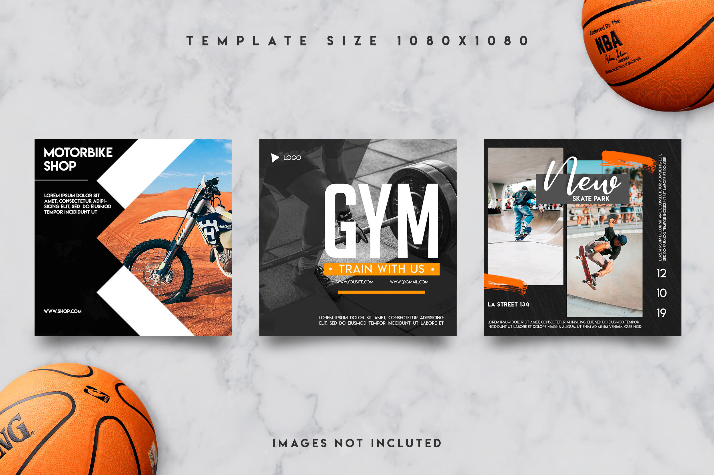 9 Instagram Sports Post Template By Design360 Thehungryjpeg Com