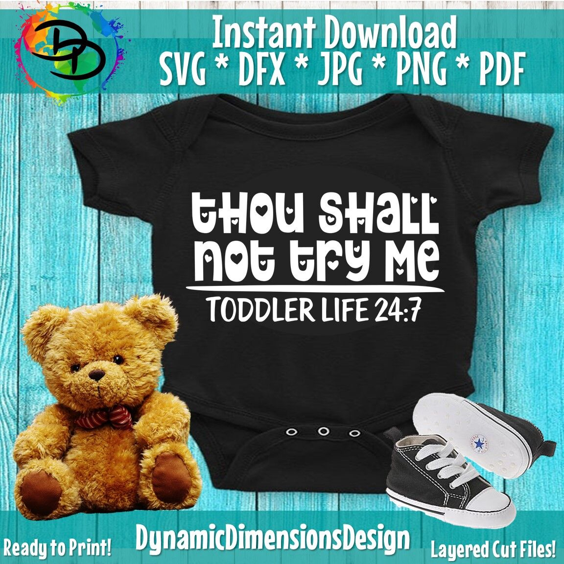 Thou Shall Not Try Me Svg Toddler Svg Funny Svg Quotes Svg