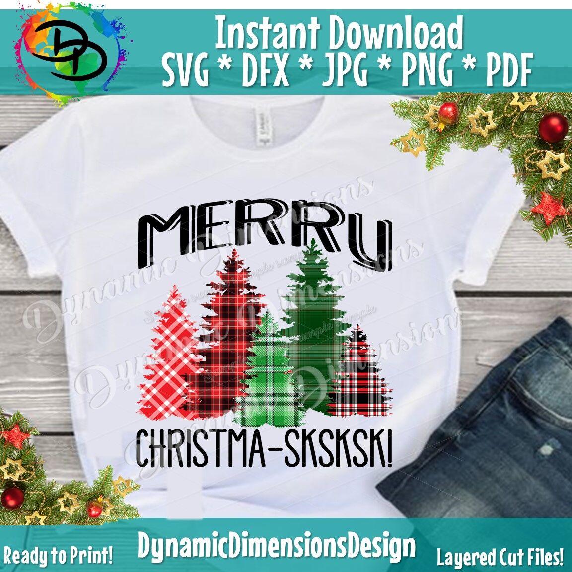 Merry Christmas Svg Christmas Tree Svg Vsco Girl Sksksk