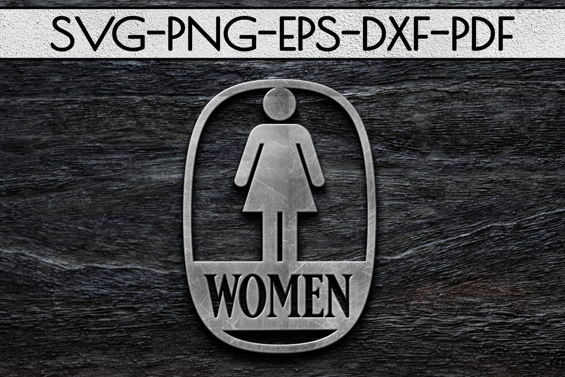 Women Sign Papercut Template Toilet Decor Svg Pdf Dxf By Mulia