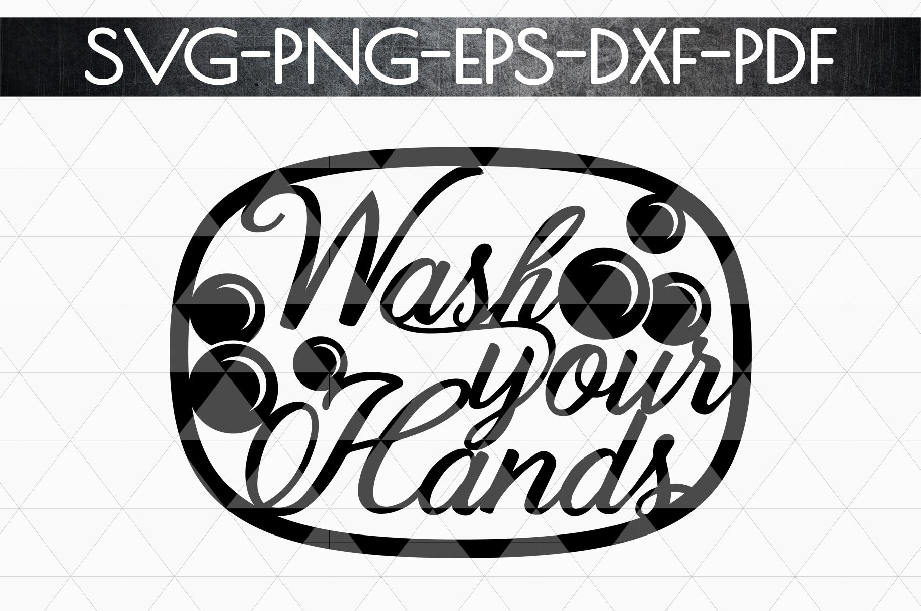 Wash Your Hands Papercut Template Bathroom Decor Svg Pdf By