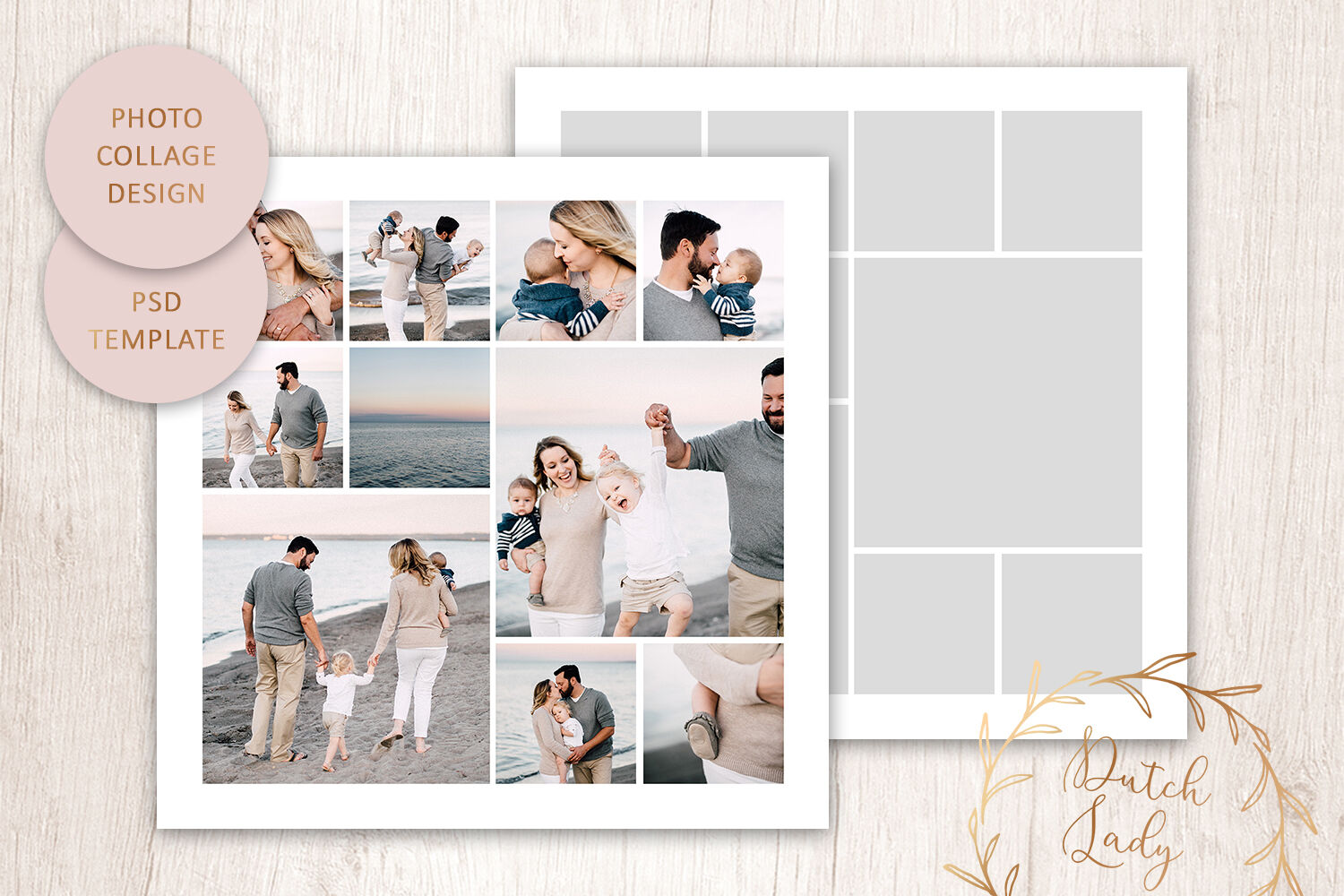 Psd Photo Image Collage Template 2 By The Dutch Lady Designs