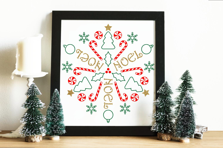 Circular Christmas Mandala Art Svg Png Dxf By Risa Rocks It