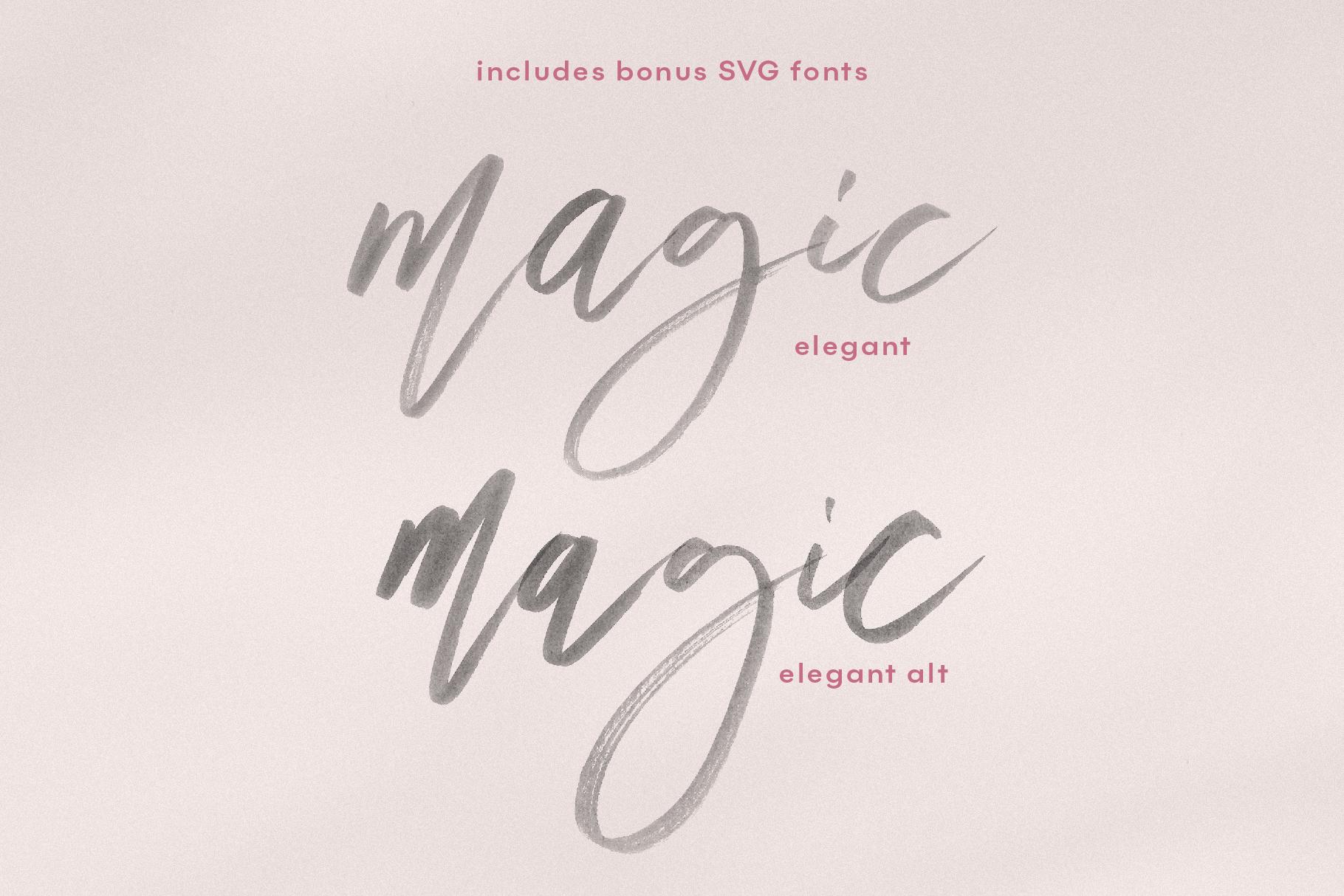 Magic Winter Script Amp Serif Font Duo By Ka Designs