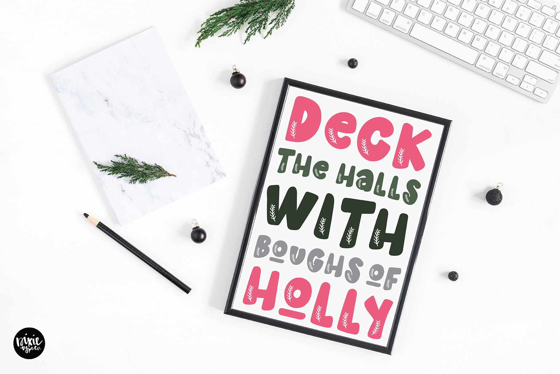 Holly Jolly A Christmas Font By Dixie Type Co Thehungryjpeg Com