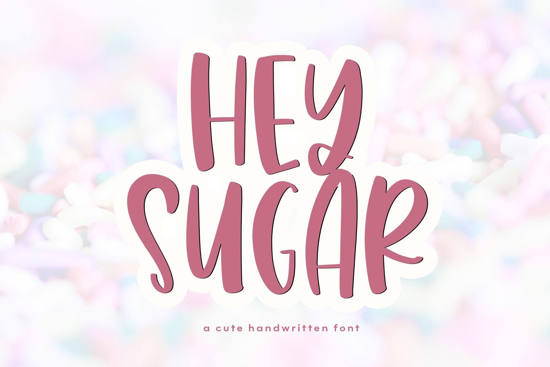 Hey Sugar A Quirky Handwritten Font By Ka Designs