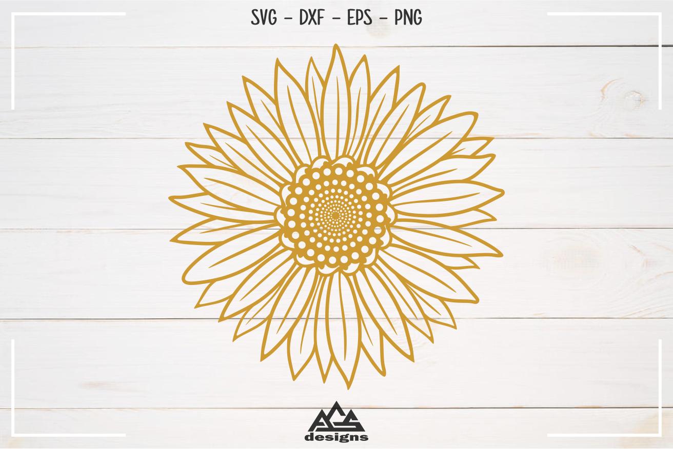 Sun Flower Sun Flower Split Frame Svg Design By Agsdesign
