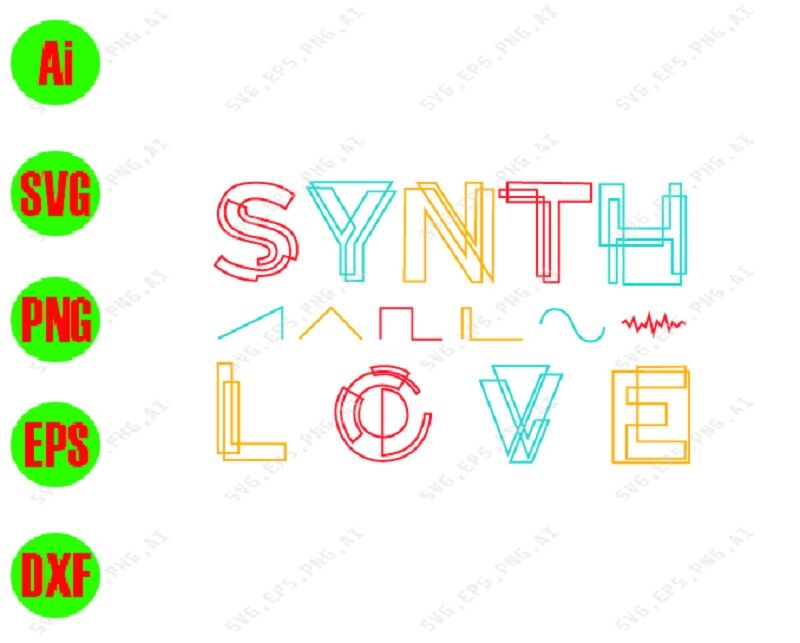 Synth Love Svg Dxf Eps Png Digital Download By Svgkiak