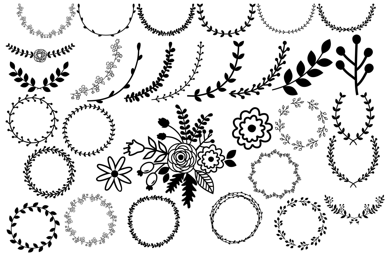 Laurel Wreath Svg Floral Frames Svg By Julydigitalimages