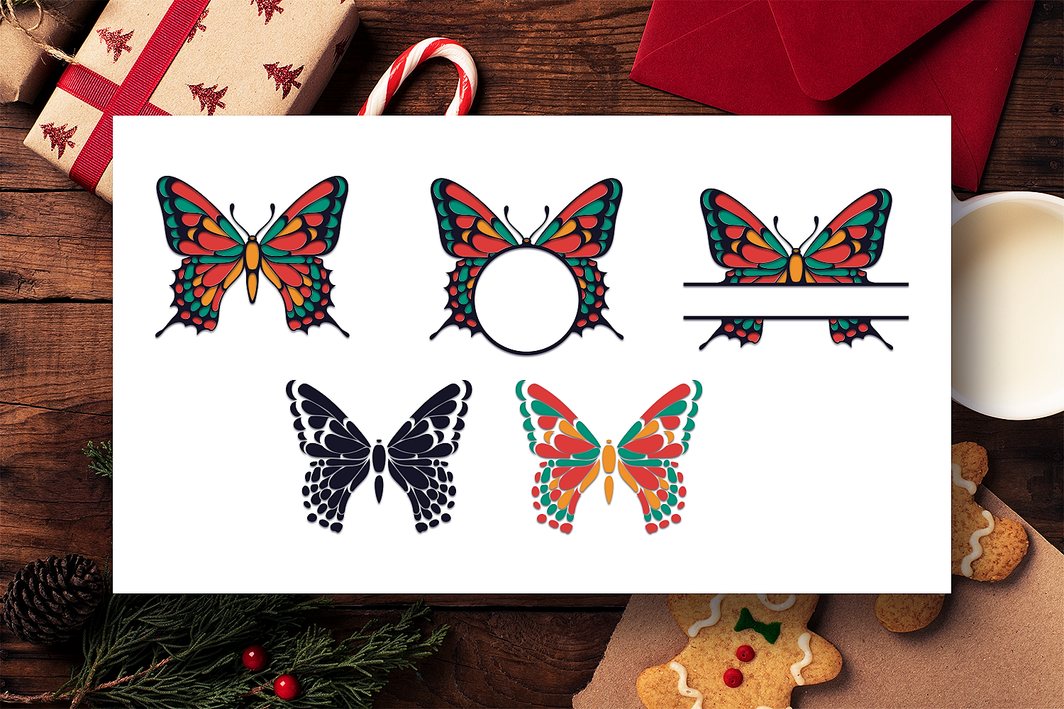 Butterfly Svg Files Bundle Butterfly Monograms By Craft N Cuts