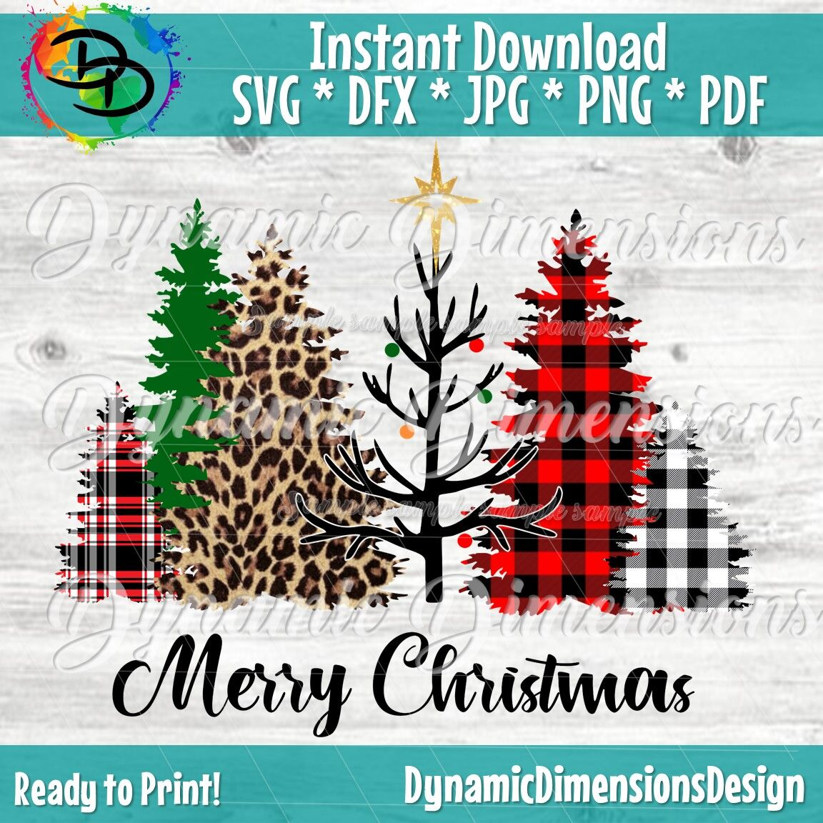 Merry Christmas Svg Christmas Tree Svg Christmas Svg Leopard
