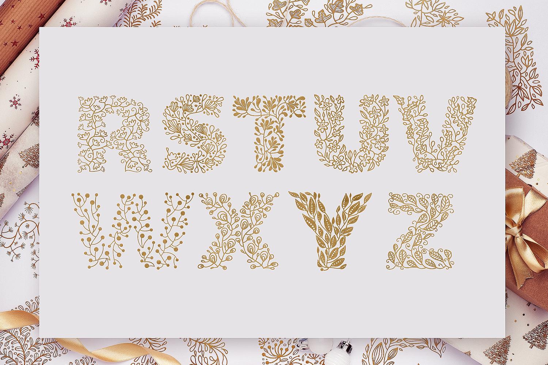 Floral Svg Alphabet By Craft N Cuts Thehungryjpeg Com