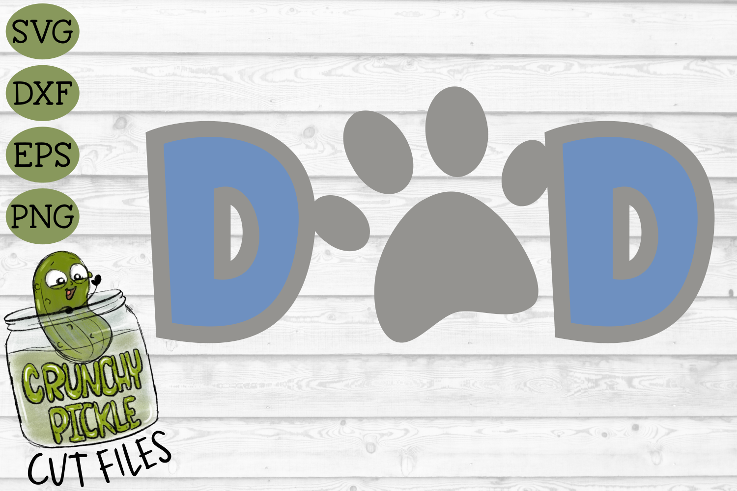 Dog Dad Cat Dad Paw Print Svg File By Crunchy Pickle