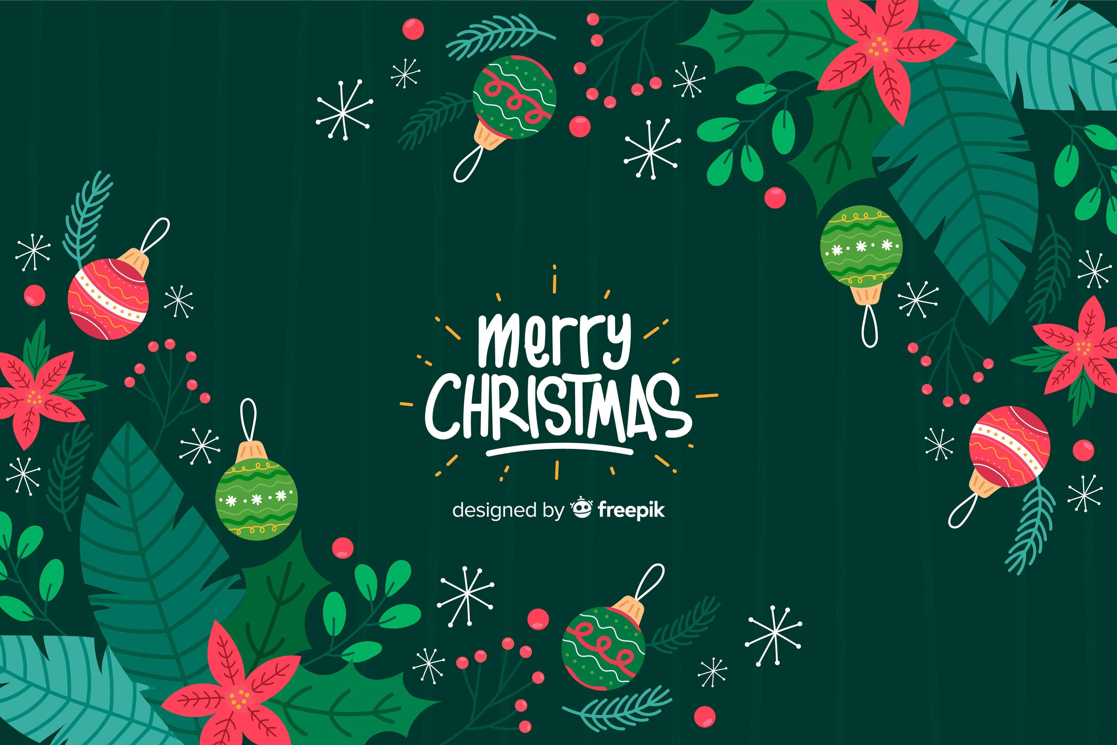 Merry Christmas Greeting Background By Fatihstudio Thehungryjpeg Com