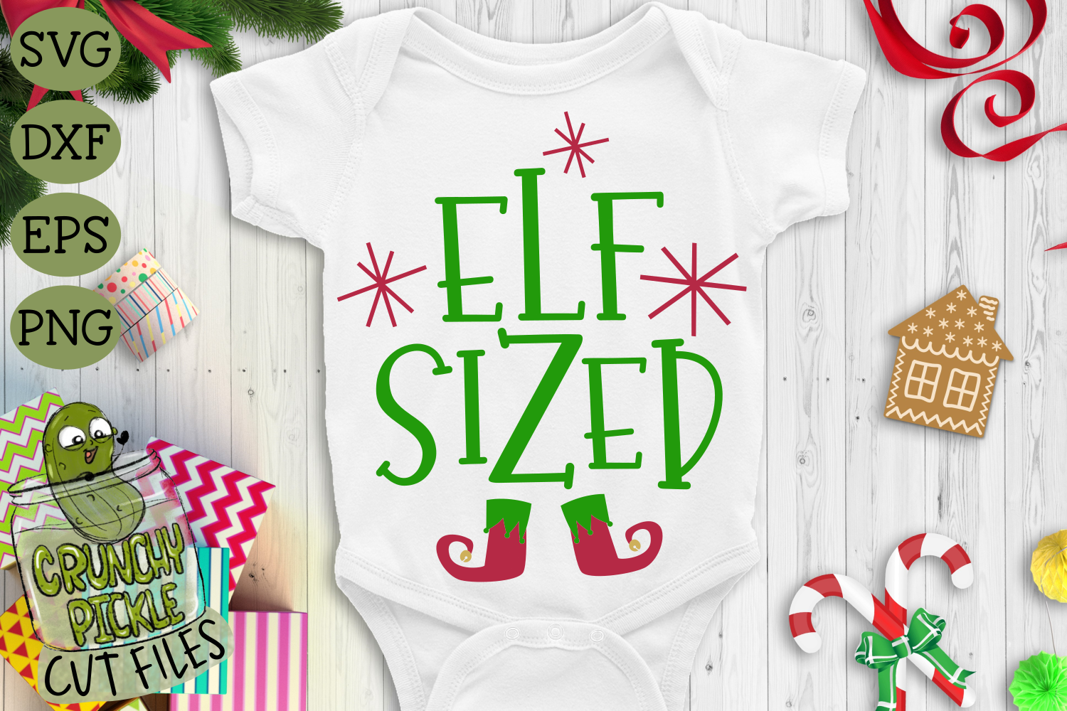 Christmas Svg File Elf Sized By Crunchy Pickle Thehungryjpeg Com