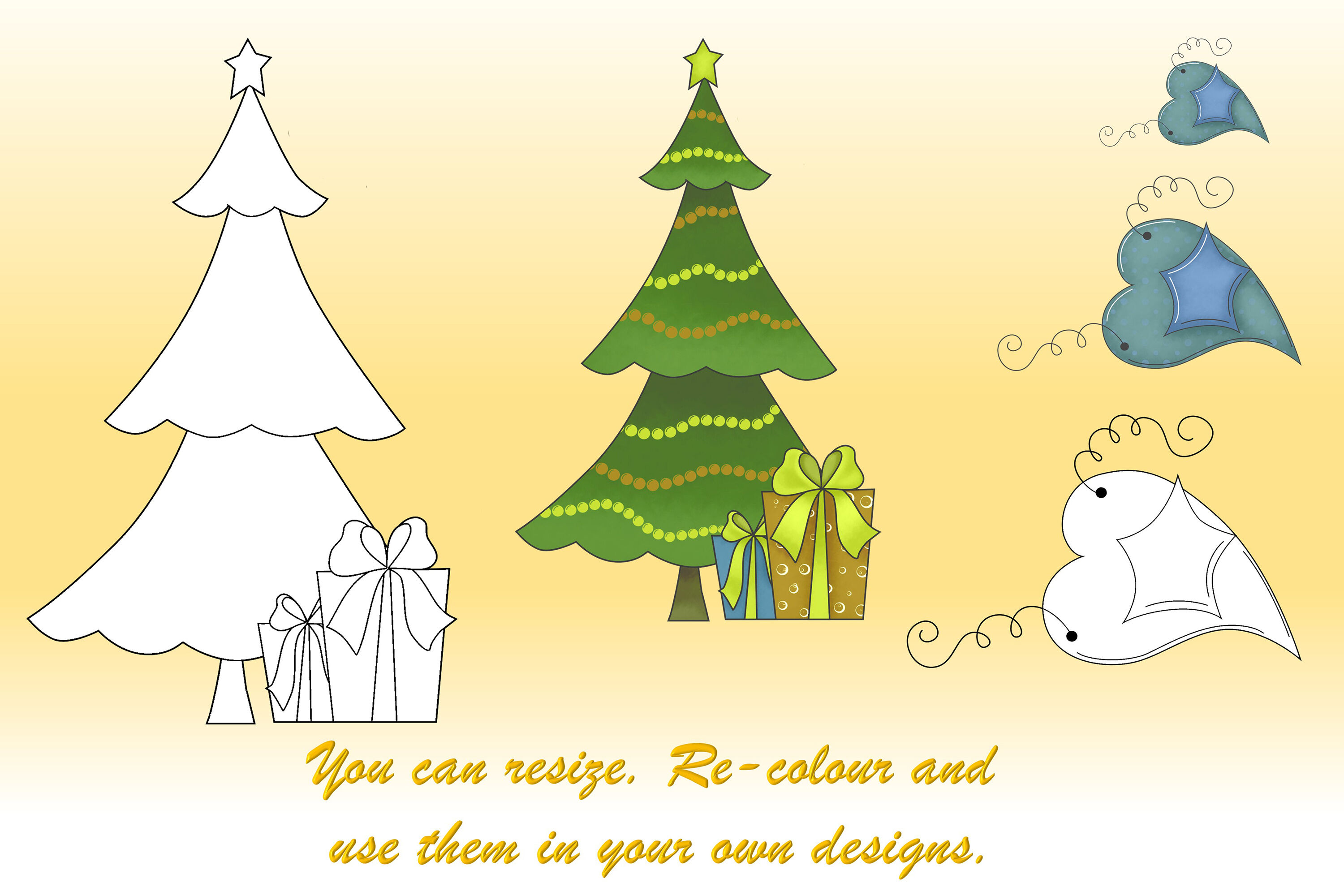 Christmas Clipart Svg Eps And Png By The Paper Princess