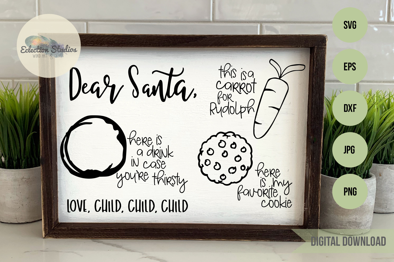 Santa Tray Svg Cookies For Santa Dear Santa By Eclectionstudios
