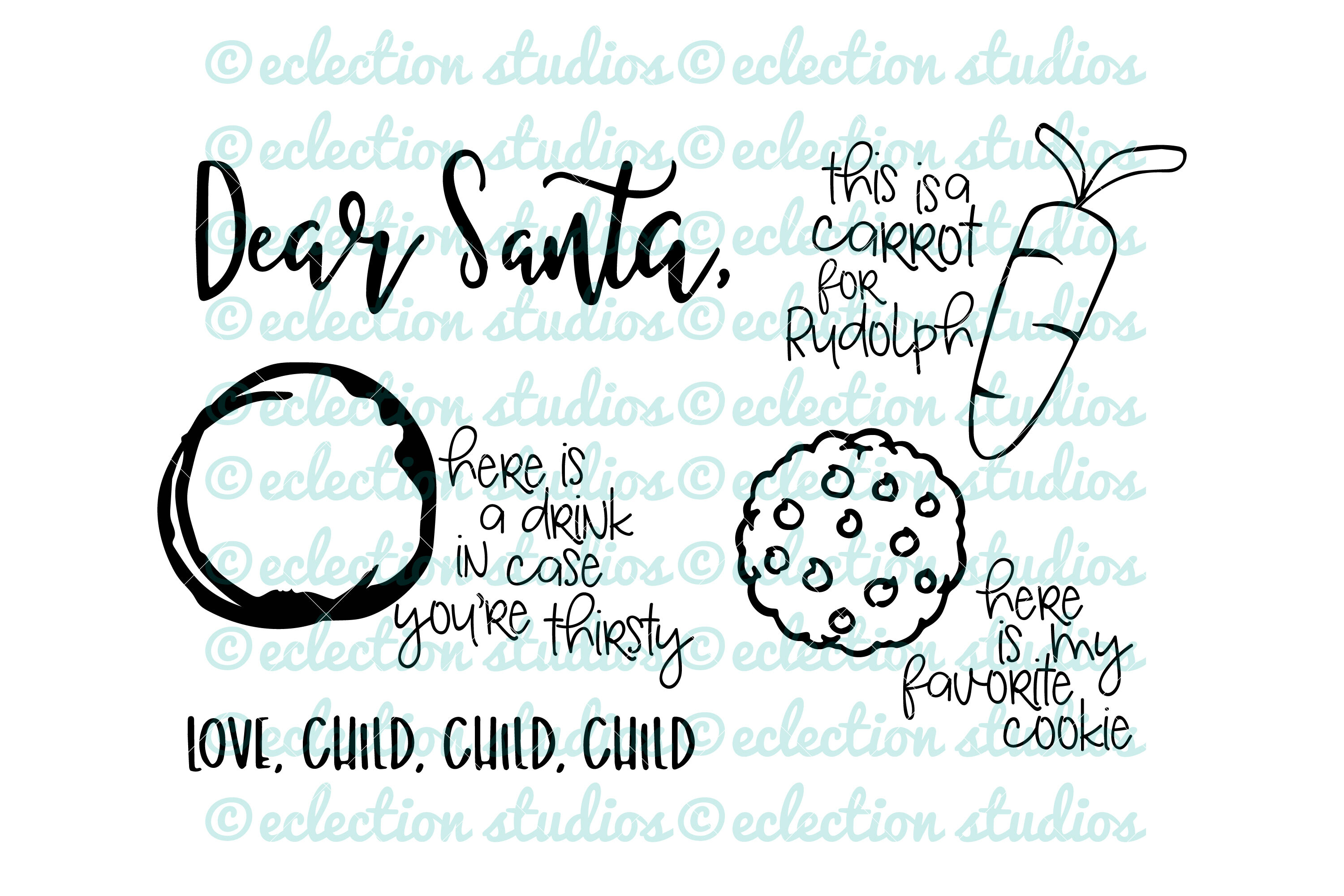 Santa Tray Svg Cookies For Santa Dear Santa By Eclectionstudios