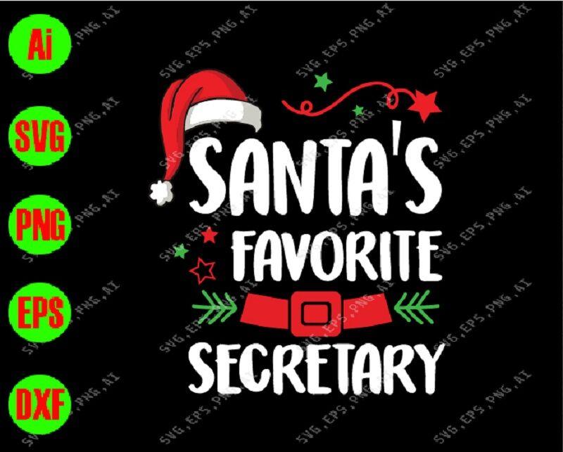 Png Eps Santa S Favorite Secretary Christmas Cut File Svg Dxf Craft Supplies Tools Visual Arts