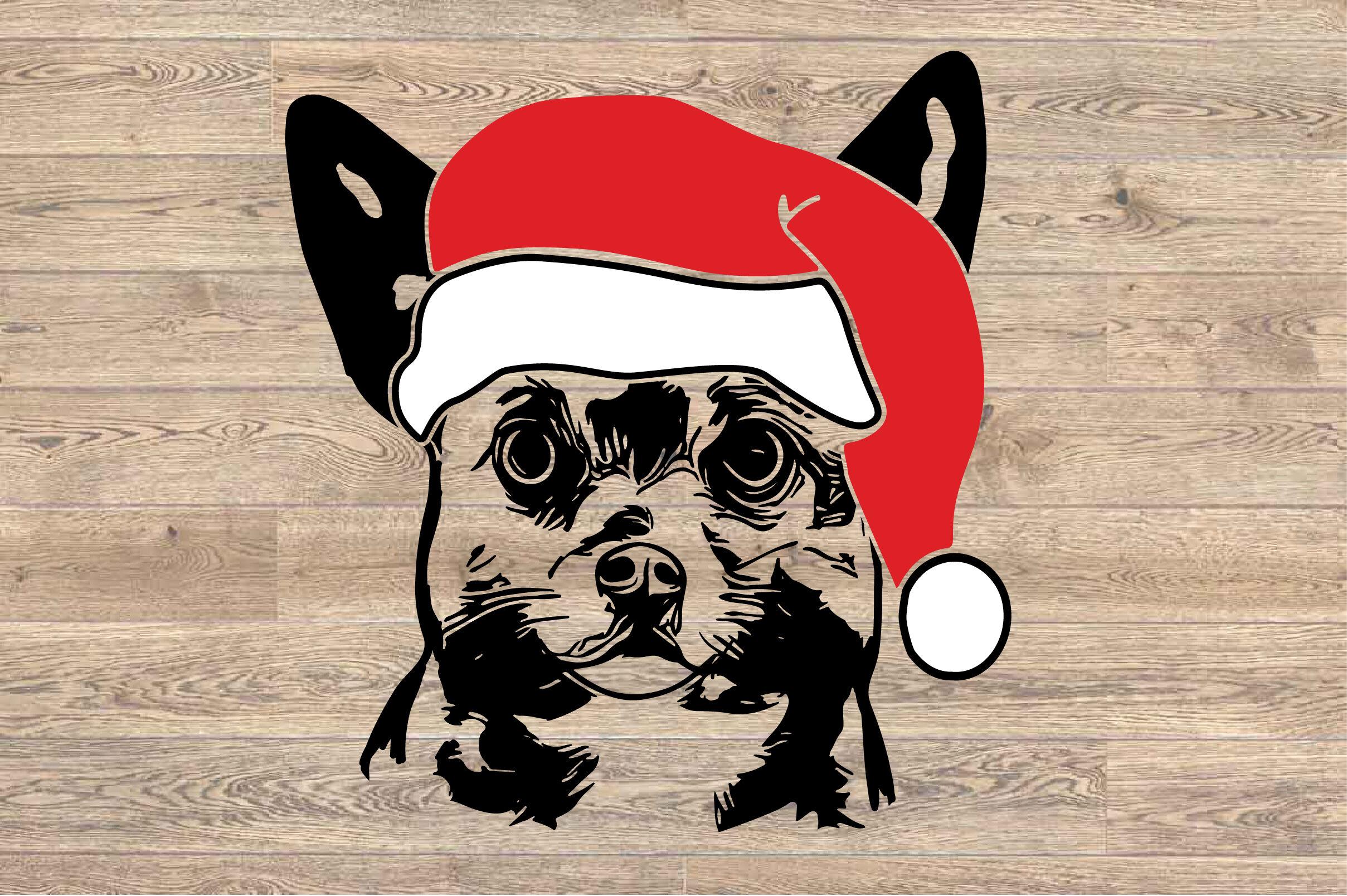 Chihuahua Whit Christmas Hat Svg Santa S Elf Santa Squad Puppy