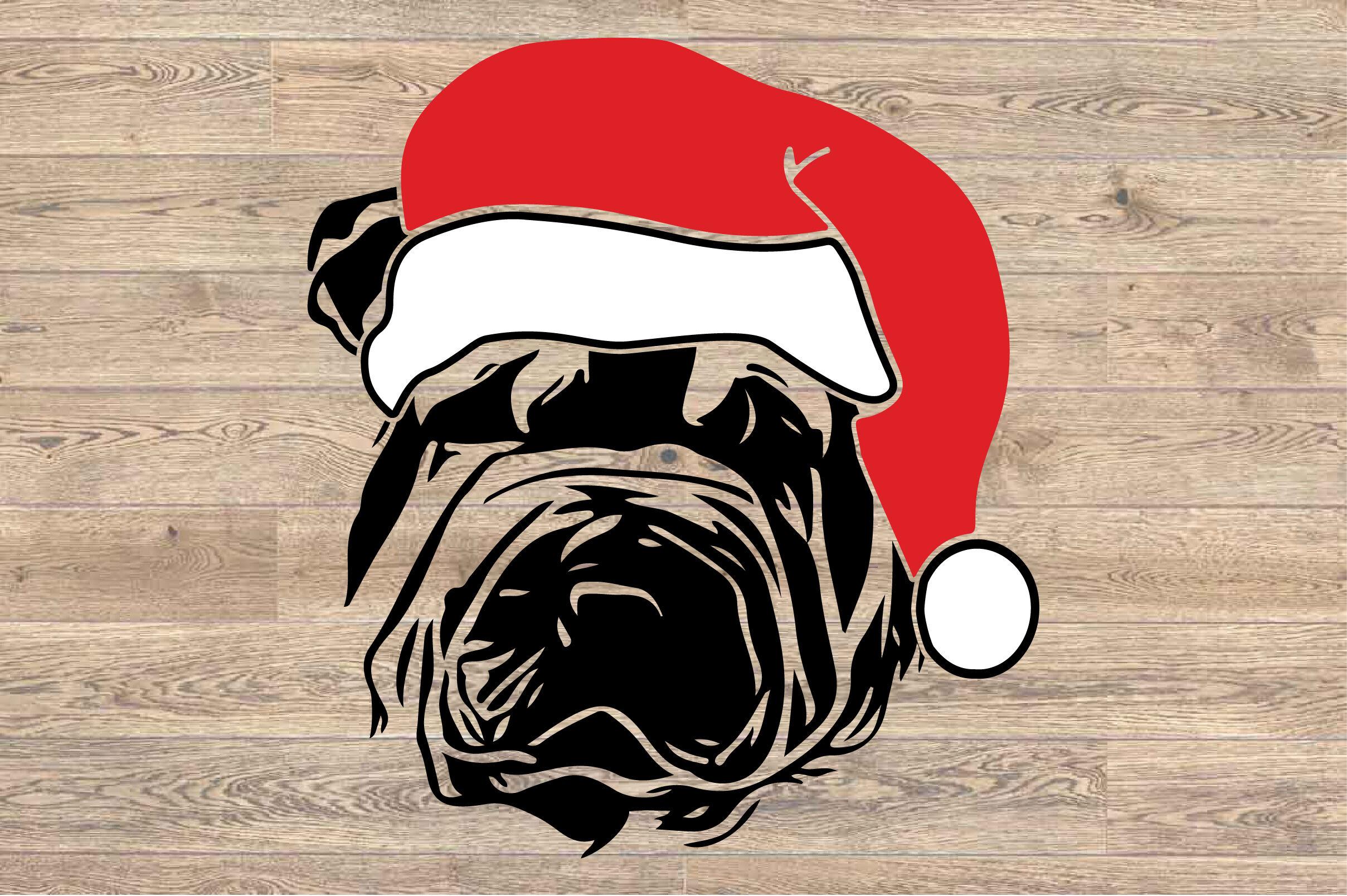 Shar Pei Whit Christmas Hat Svg Santa S Elf Santa Squad 1588s By