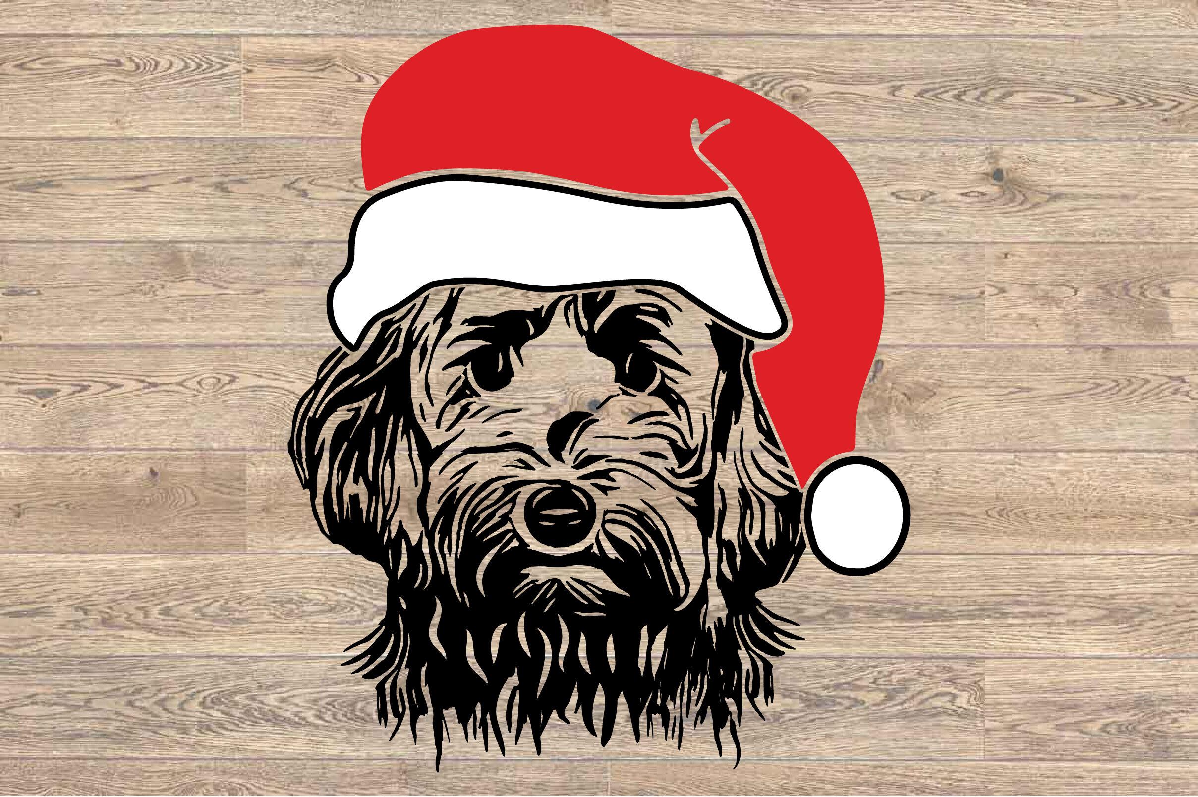 Goldendoodle Whit Christmas Hat Svg Santa S Elf Santa Squad 1589s