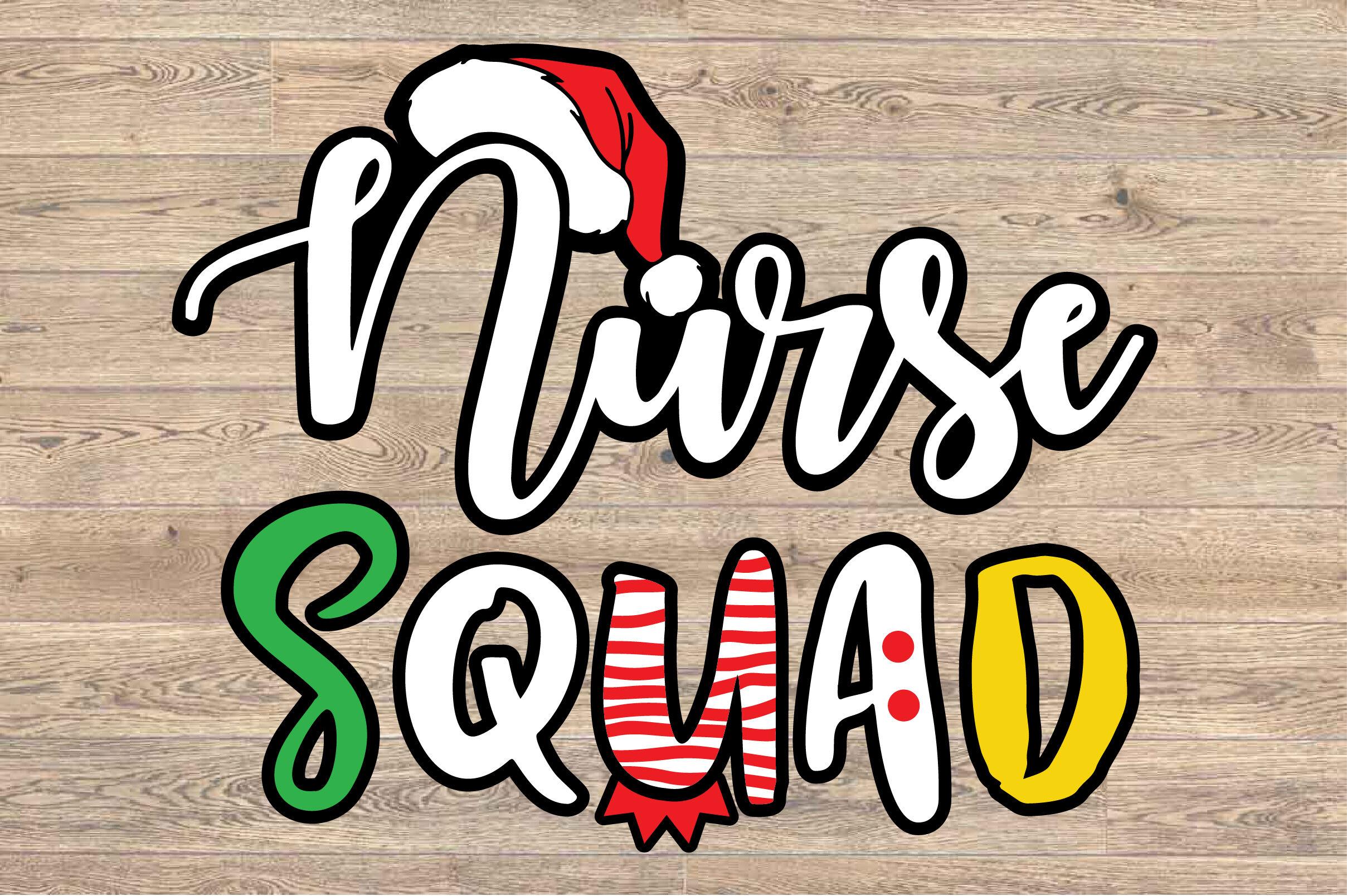 Santa Nurse Squad Elf Nurse Svg Mom Family Hat Xmas Christmas