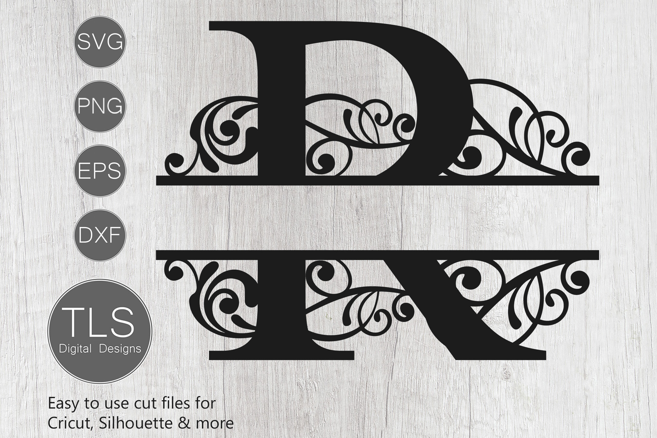 Letter R Split Monogram Svg Split Monogram Svg Letter R Cricut