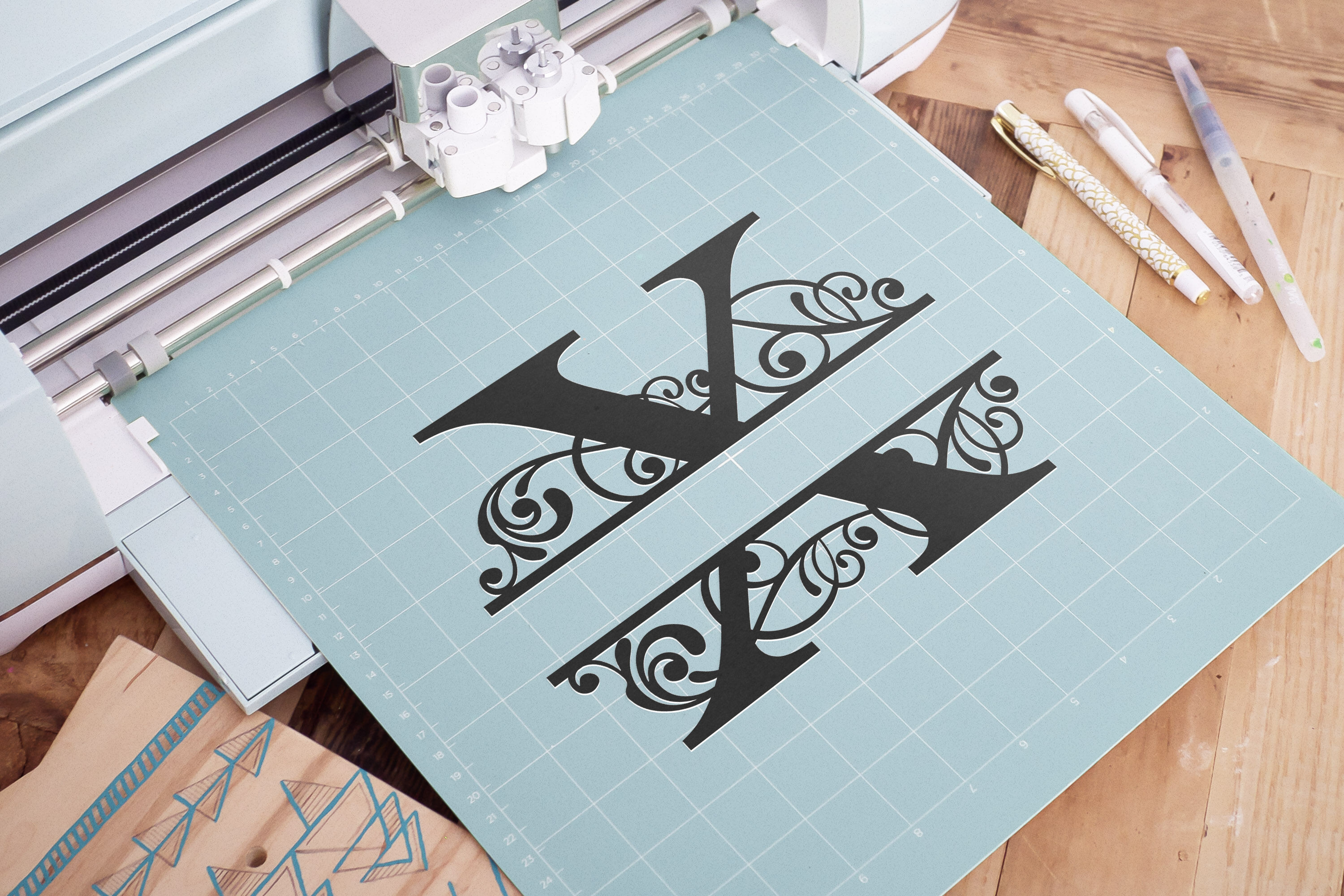 Letter X Split Monogram Svg Split Monogram Svg Letter X Cricut