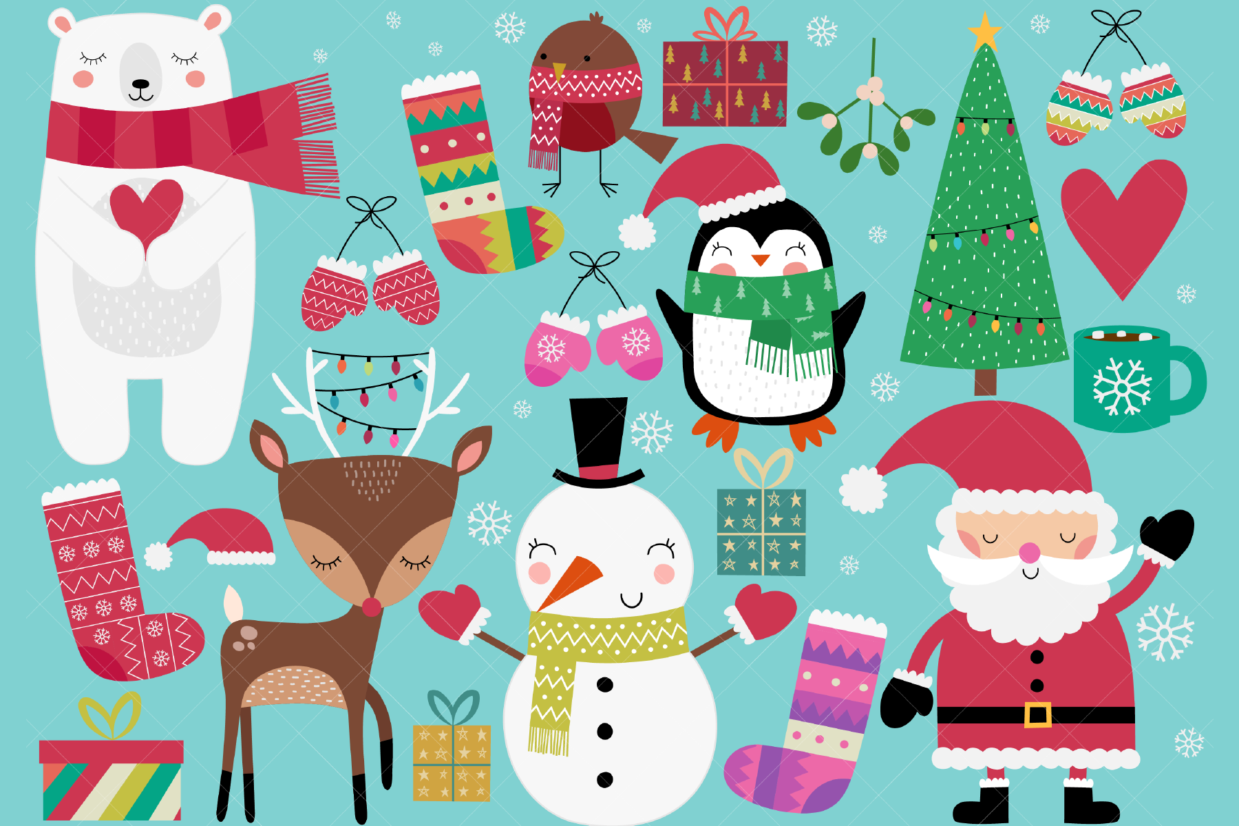 Christmas Clip Art By Clipartisan Thehungryjpeg Com