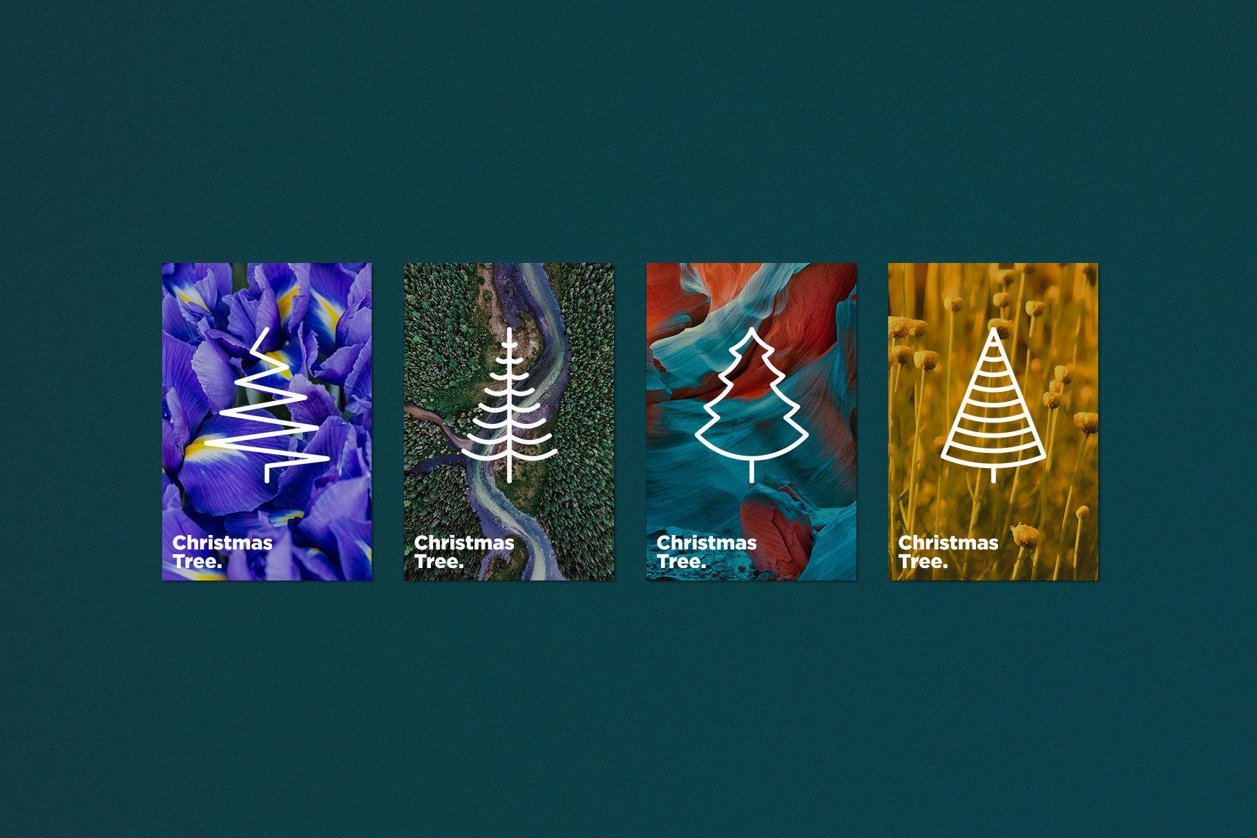 Christmas Tree 16 Thin Line Icons Set By Alexey Blogoodf