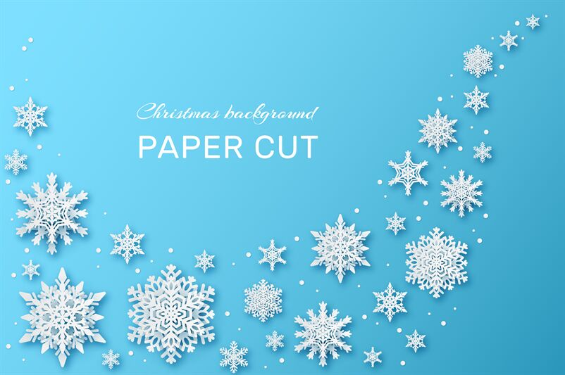 Snowflakes Design Christmas And Happy New Year Wallpaper With
