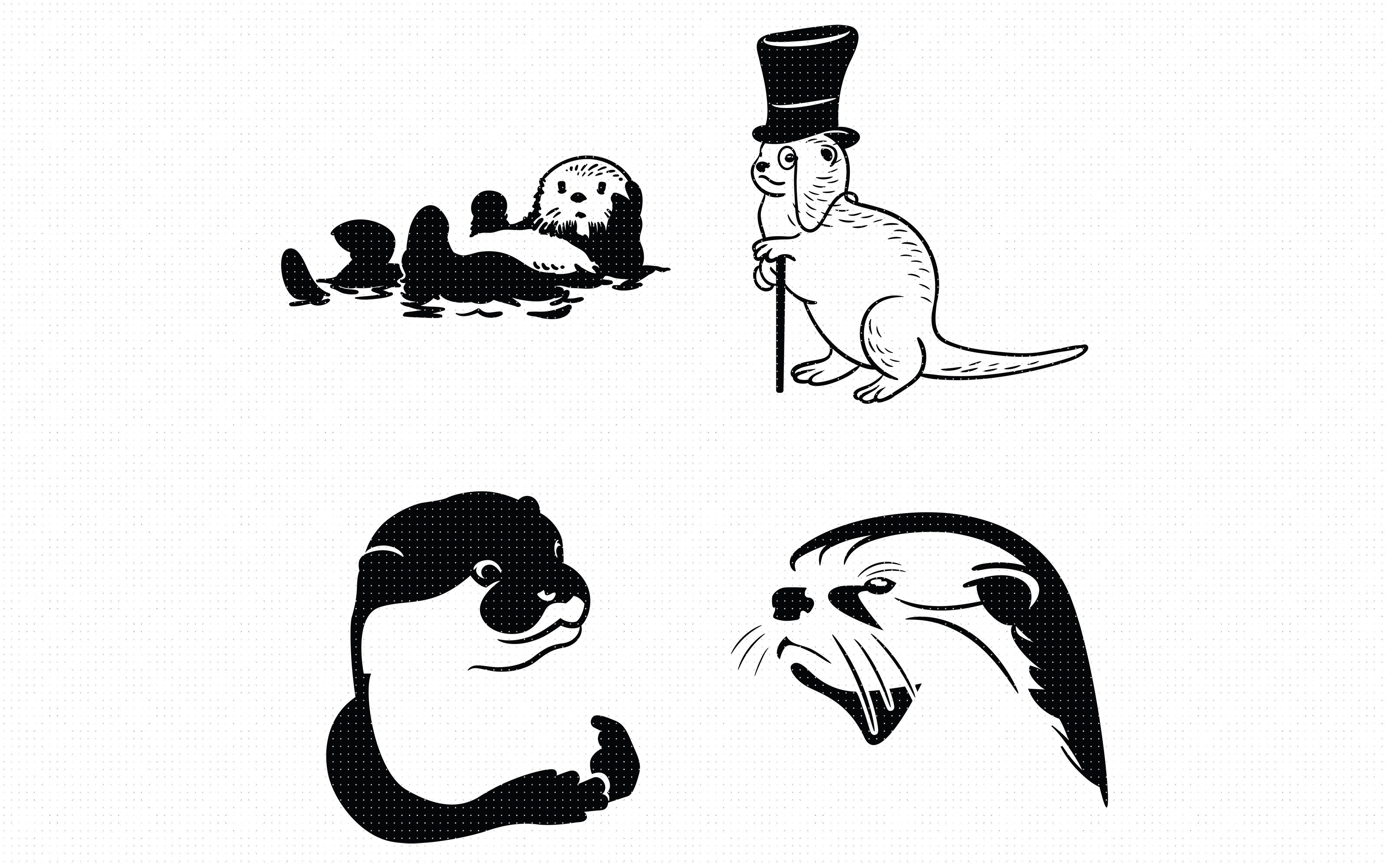 Otter Svg Clipart By Crafteroks Thehungryjpeg Com