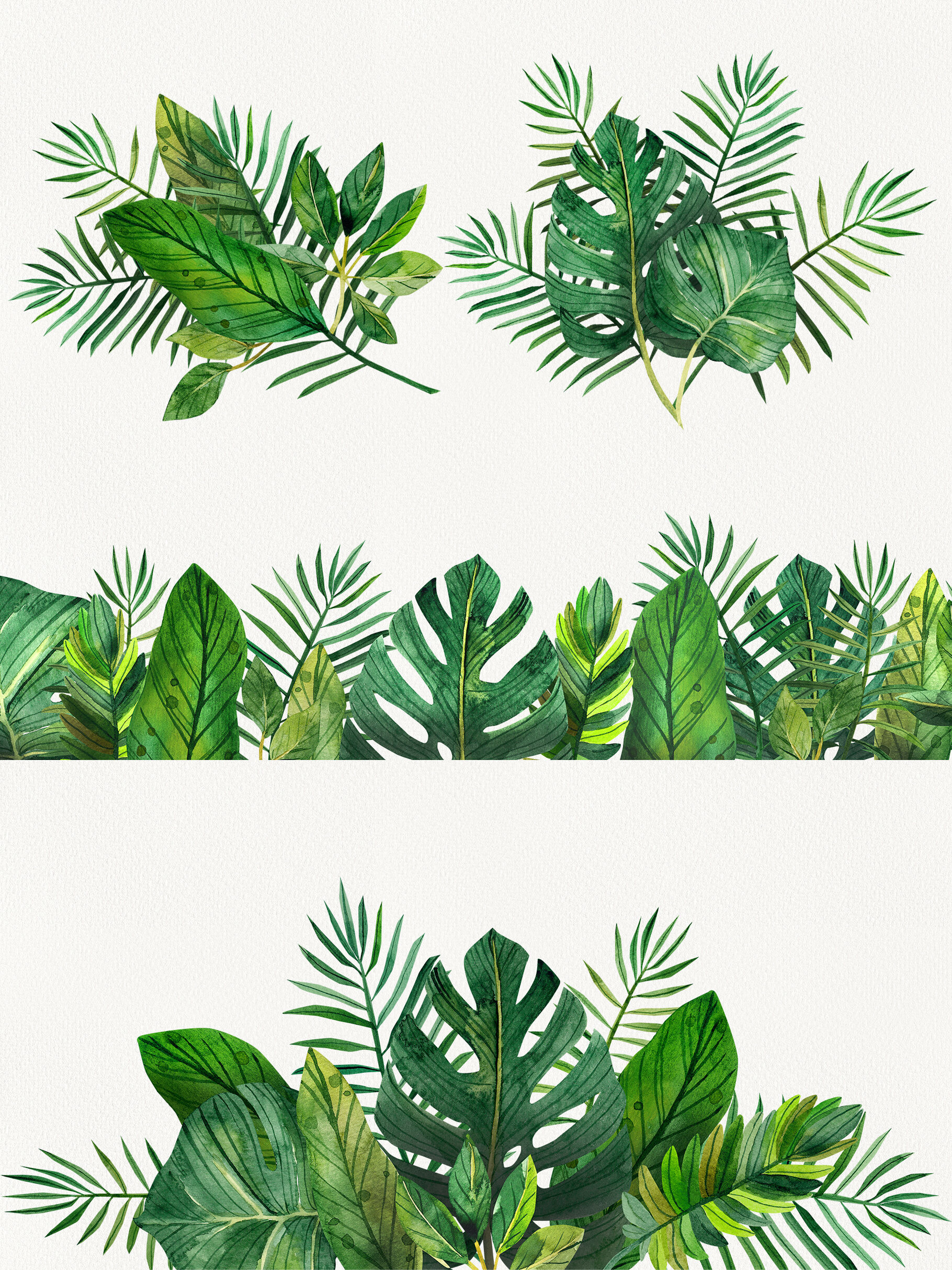 Watercolor Tropical Leaves Clip Art Digital Drawing Tropical Leaves By Xandpic Art Thehungryjpeg Com You can find more tropical leaves drawing in our search box. watercolor tropical leaves clip art