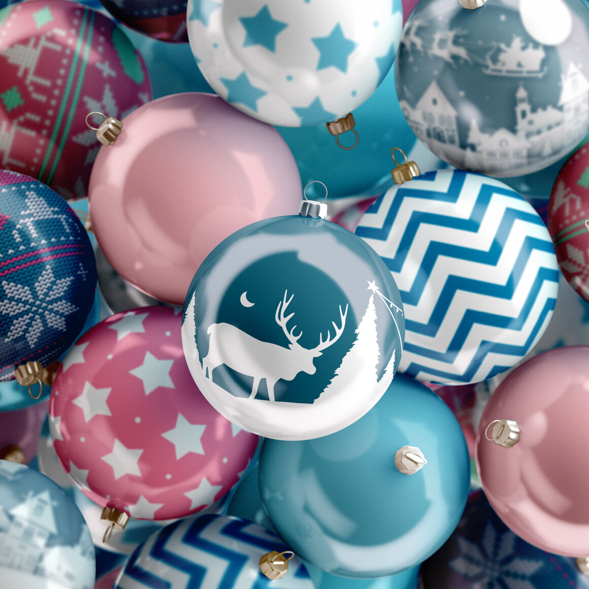 Heap Of Christmas Balls Mockup By Rebrandy Thehungryjpeg Com