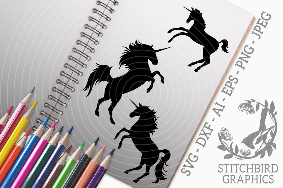 Unicorn Family Svg Silhouette Studio Cricut Eps Dxf Ai By