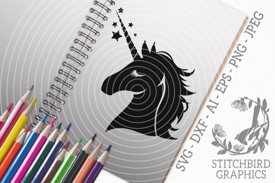 Unicorn Head Svg Silhouette Studio Cricut Eps Dxf Ai Png