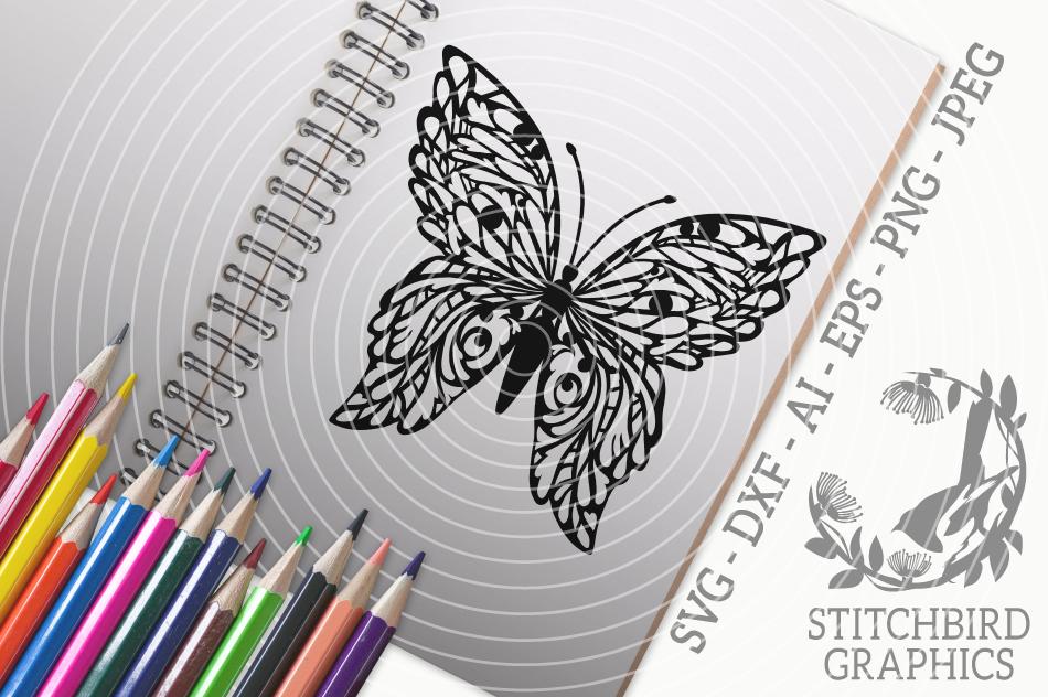 Butterfly Svg Silhouette Studio Cricut Eps Dxf Ai Png Jpeg