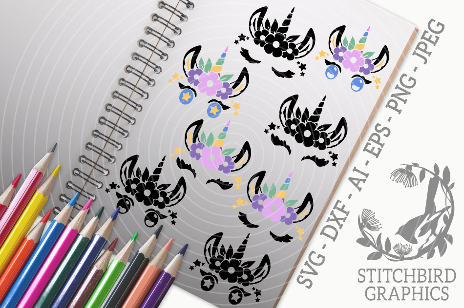 Unicorn Eyelashes Svg Silhouette Studio Cricut Eps Dxf By