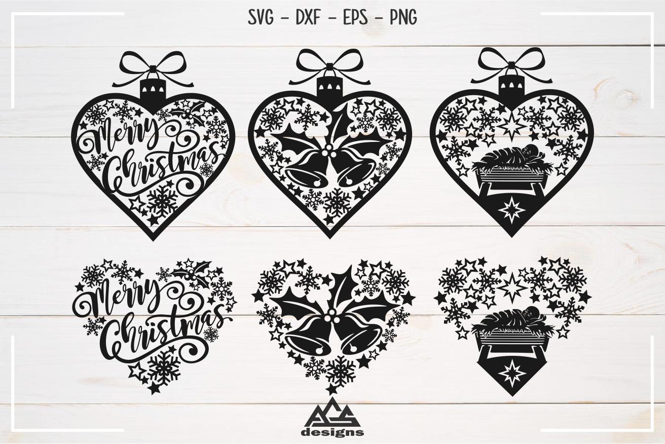 Christmas Ornament Svg Design By Agsdesign Thehungryjpeg Com