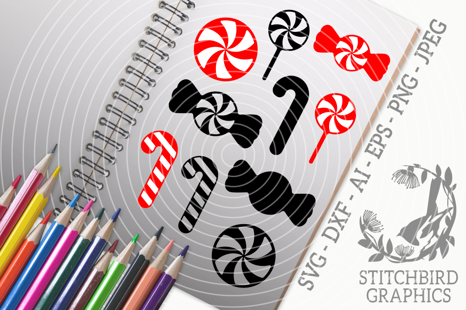 Christmas Candy Svg Silhouette Studio Cricut Eps Dxf By