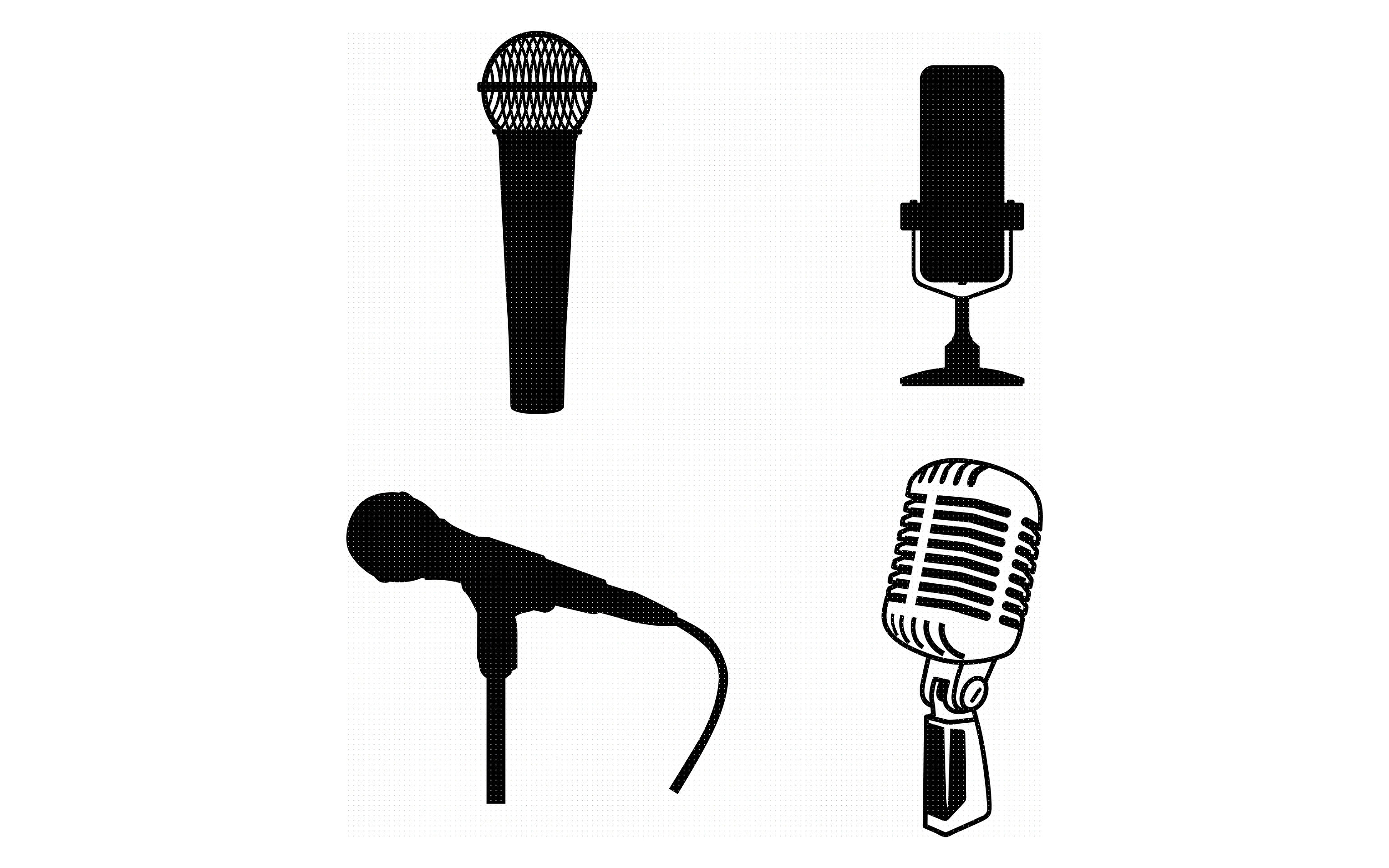 Mic Microphone Svg File Dxf Free Svg Cut File Instant Download